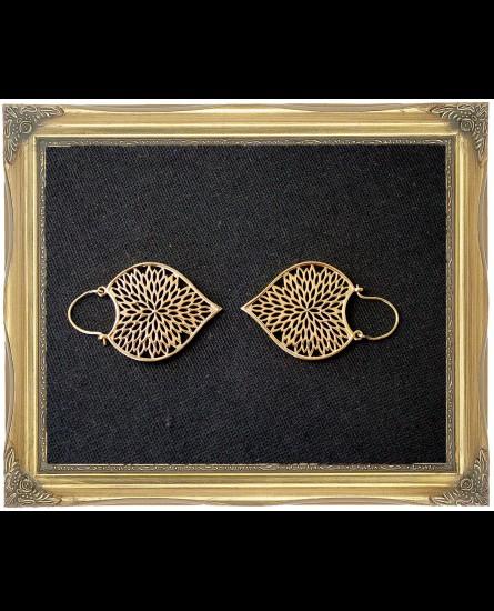 Dangle boho brass earrings