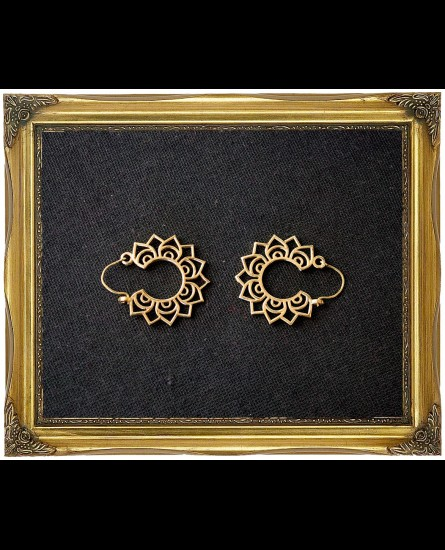 Lotus design boho earrings