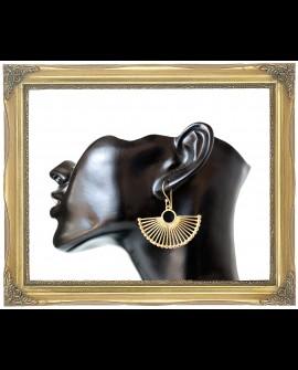 Semi circle brass earrings