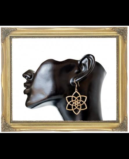 Seed of life brass earrings
