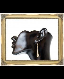 Tear drop brass earrings
