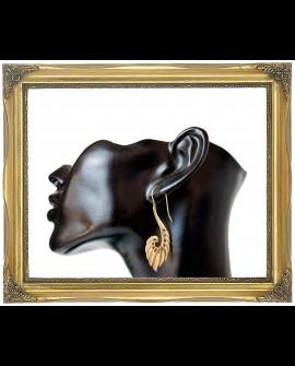Swan design brass earrings
