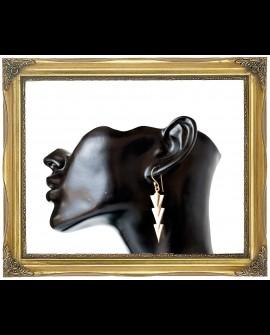Arrowheads brass earrings