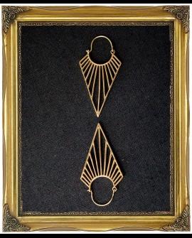 Triangle brass earrings