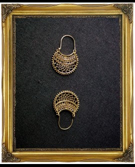Bohemian gypsy brass earrings