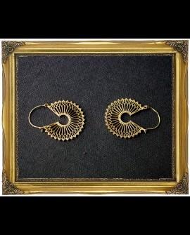 Tribal style brass earrings