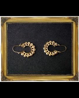 Skulls hoop brass earrings
