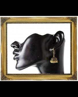 Antique style dangle brass earrings