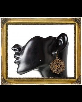 Circular brass earrings