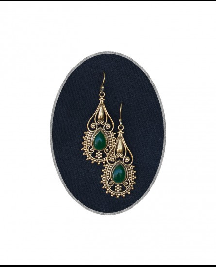 Aventurine - Ibiza boho earrings, bohemian earrings, gemstone earrings